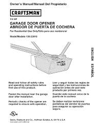 craftsman garage door opener 139 5391 user guide manuals