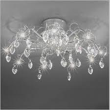 franklite chantilly 10 light crystal semi flush fl2234 10