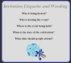 welcome party invitation wording invitation etiquette and wording