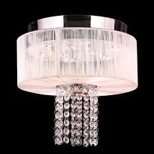 worldwide w33954c12 wt alice polished chrome finish 10 nbsp tall led ceiling light fixture loading zoom