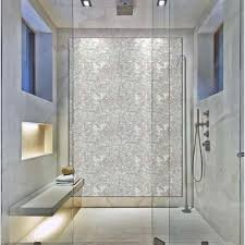 white mother of pearl mosaic tile with base subway pattern shell tiles kitchen wall backsplash