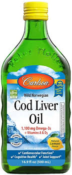 <b>Cod</b> Liver Oil, 1100 mg Omega-3s, Liquid Fish Oil Supplement, <b>Wild</b>
