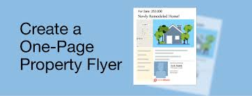 How To Create Flyers How To Create A One Page Property Flyer Realtors Property Resource