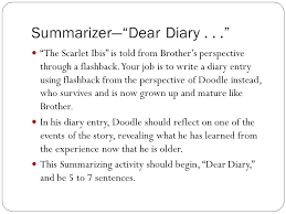 "hurst s use of flashback flashback the author or narrator depicts  2 summarizer ""dear"