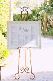 Seating Chart Framed With Gold Easel Our Wedding Seating