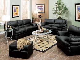 black leather living room furniture. Simple Leather Brilliant Black Living Room Furniture Sets Leather  B Intended Design Decorating In