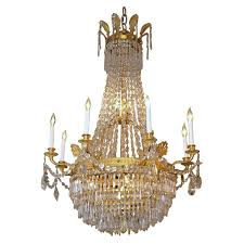 antique french empire ormulu and baccarat crystal chandelier for with regard to awesome house empire crystal chandelier plan