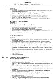 Good Resume Examples Retail Sales Manager Retail Resume Samples Velvet Jobs