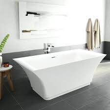 home bravura inch acrylic double ended freestanding bathtub no faucet 66 x 32 bathtubs alcove aria