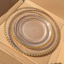 colored glass plates clear elegant charger plate
