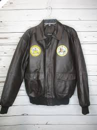 details about men s burks bay leather with patches er jacket sz m