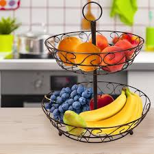 Sorbus Bronze Stainless Steel 2-tier Countertop Fruit Basket Holder and  Decorative Bowl Stand - Free Shipping On Orders Over $45 - Overstock.com -  19450204