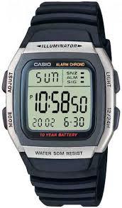 <b>Мужские</b> наручные <b>часы Casio W</b>-96H-<b>1A</b> кварцевые