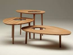 albino  wooden coffee table by horm design salvatore indriolo