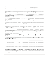 Renters Application Template Apartment Application Form Under Fontanacountryinn Com