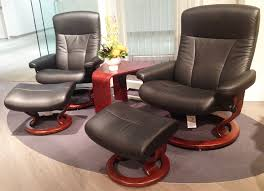 Ekornes Stressless President and Medium Recliner Chair