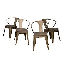 AmeriHome Loft Style 18 in. Rustic Gunmetal Dining Chair ...