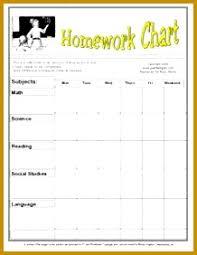 4 Homework Chart Template Fabtemplatez