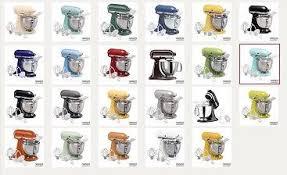 kitchenaid mixer color chart. kitchenaid stand mixer colors color chart d