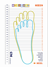 Kids Shoe Size Chart Inches Toddler Foot Chart Bedowntowndaytona Com