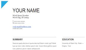 Google Resume Templates Free