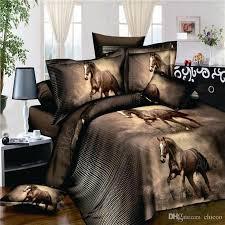 horse comforter sets queen 3d bed set printed bedding animal print bedspread