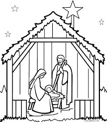 Free Printable Christmas Nativity Colouring Pages Free Printable