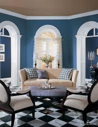 light blue white living