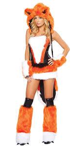 <b>Women Sexy</b> Fox Costume Faux Fur Corset <b>Skirt Set</b> Animal Fox ...