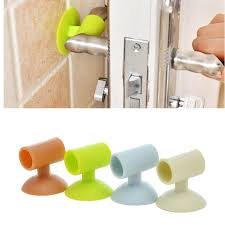 1pcs silicone door handle crash pad wall protectors self adhesive per guard door stopper anti