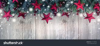 Christmas Ornament Border Snow On Rustic Stock Photo 531139030 ...