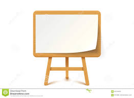 Wooden Flipchart With Paper Stock Vector Illustration Of