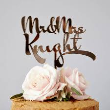 wedding cake toppers. personalised calligraphy wedding cake topper toppers