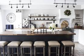 Farmhouse Kitchen Table Lighting Industrial Farmhouse Kitchen Island Ideas Bar Height Table
