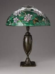 a favrile glass and bronze apple blossom table lamp studios new york antique