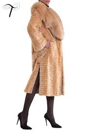 fur coat beige coat