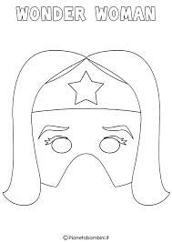 Maschere Di Supereroi Da Colorare Per Bambini Pianetabambiniit