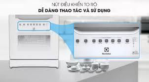 Máy rửa chén mini Electrolux ESF6010BW Đèn báo chu kỳ rửa Chức năng rửa  nhanh Cửa máy bằng kính cho phép theo dõi quá trình rửa Rổ đựng muỗng đũa  tiện lợi
