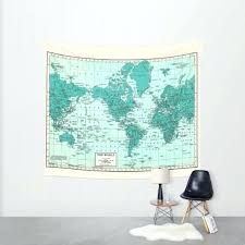 image 0 world map wall tapestry print hanging art decoration