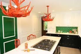 orange chandeliers