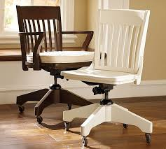 white wooden office chair