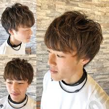 大学生夏はマッシュハイトーンカラー Log Hairログヘアー