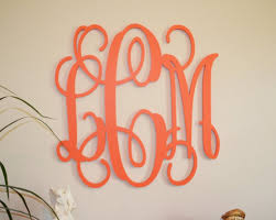 initial letter wall decor 24 painted wood monogram initials wall big wooden monogram