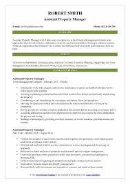 Property Manager Job Description Samples Assistant Property Manager Resume Samples Qwikresume