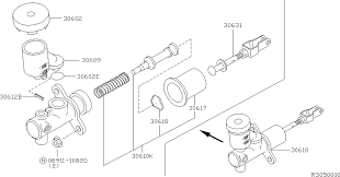 Clutch master cylinder 305