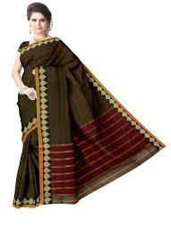 Narayanpet Designer Sarees Green Stripes Designer Narayanpet Cotton Saree Blouse