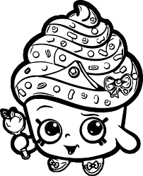 Free Printable Cute Shopkins Coloring Pages