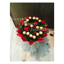Ferrero Rocher Bouquet Designs 12 Red Rose Combo