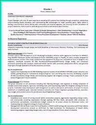 42 Stirring Construction Project Manager Resume Sample For