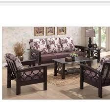 brown designer wooden sofa set rs